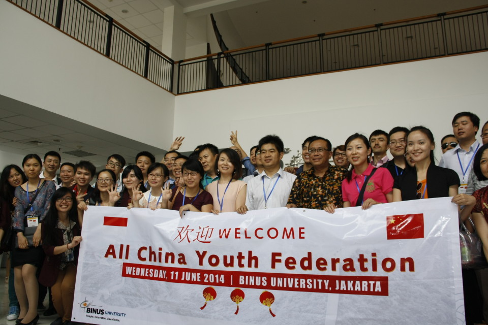 All China Youth Delegation Visit BINUS UNIVERSITY