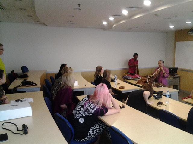 QUT Students Taking Cultural Immersion Trip At BINUS UNIVERSITY