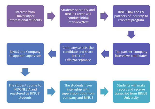 SCHEME OF INTERNSHIP at BINUS UNIVERSITY