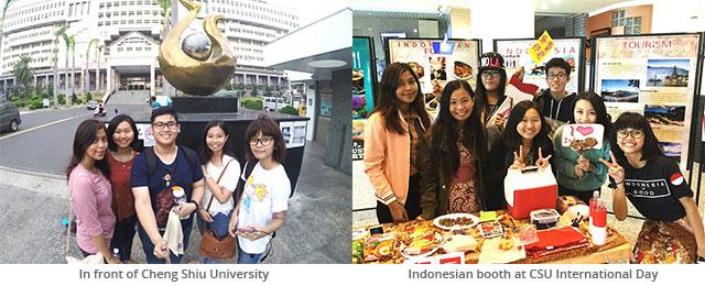 Elizabeth Charlotte & Jessica Laay BINUS Exchange at Cheng Shiu University, Taiwan