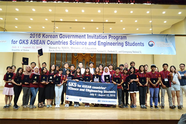 Metta Handika: GKS for ASEAN countries' SCIence and ENgineering Students 2016 at Dankook University, South Korea