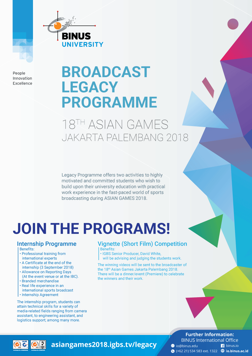 Th Asian Games Jakarta Palembang Legacy Programme