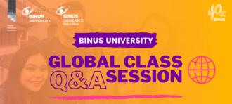 BINUS UNIVERSITY Global Class Live Q&A Session